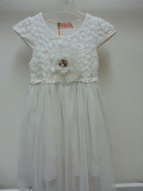 Free shipping  2013 summer new arrivals girls crochet princess dress with big flower sweet beautiful 5pcs/lot 2colors size 5-13