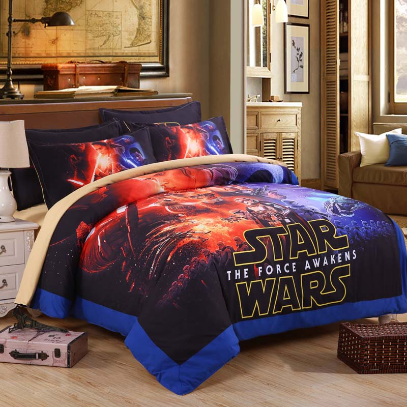 Star Wars Bedding Set The Force Awakens Duvet Cover Set Twin Full Queen Size Quilt Cover and Pillow Case(China (Mainland))