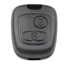 Black Replacement Entry Plastic Key Keyless Remote Fob Shell Case Housing for Peugeot 206 207 306 307