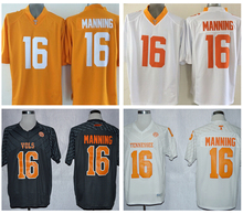 New Tennessee Volunteers Jerseys 16 Peyton Manning Jersey Football College Shirt Men Youth Kids Yellow Black White Univers(China (Mainland))