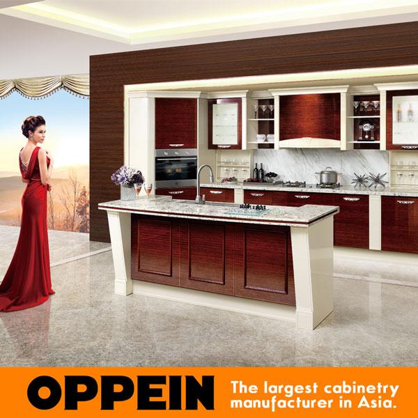 Kitchen cabinet Guangzhou Design Modular Solid Wood Home prefab kitchens OP15-057(China (Mainland))
