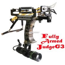 Fully Armed Powerful Judge G3 Hunting Slingshot Catapult Camouflage Military Panther Sling Shot With Arrow Rest+ Flashlight(China (Mainland))