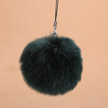 Pom pele Chaveiro Bola de Pêlo Falso Chaveiro Chaveiro Pele Porte Llaveros Chaveiro Para O Saco Clef Charme Regalos Navidad 6C0088(China)