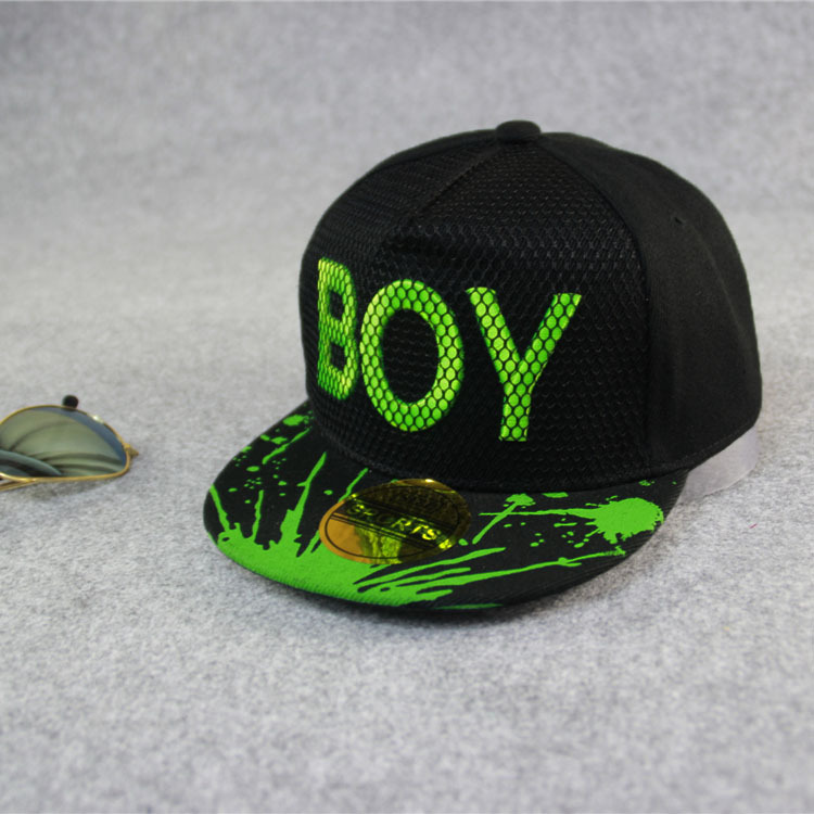 Free shipping hats for children with lettter boy Girl Cute Adjustable Baseball Cap Kids Snapback Hip-Hop Hats 3-8 Years Sun Hat(China (Mainland))