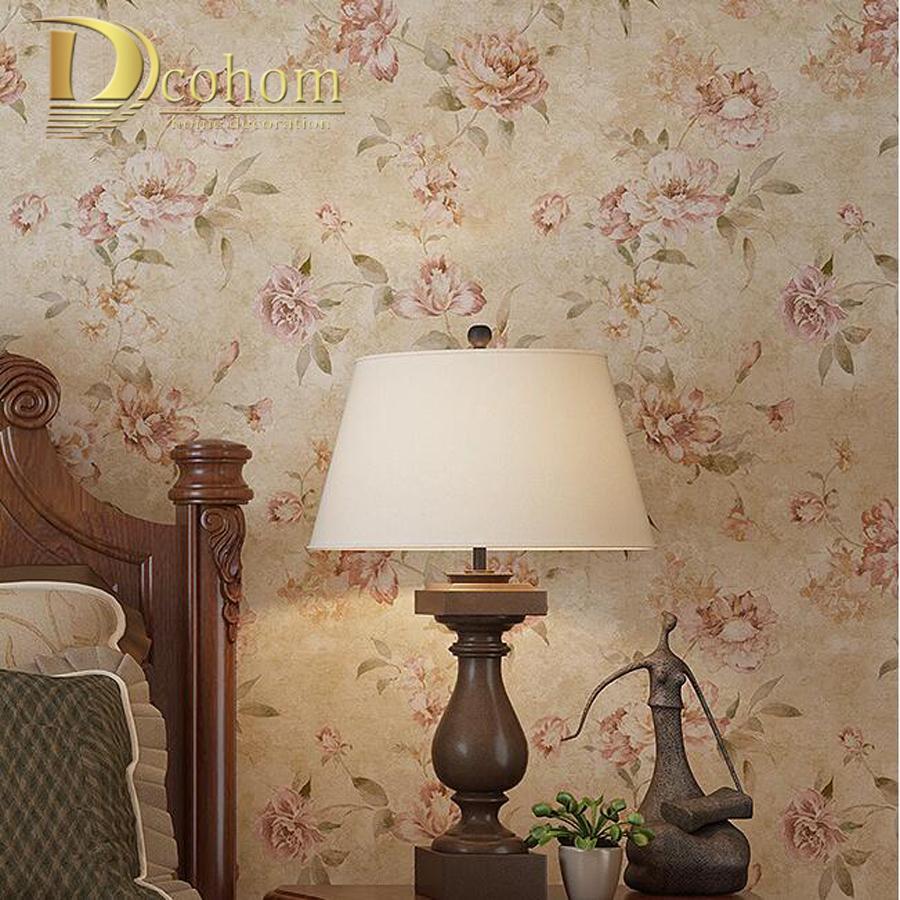Buy american rustic wall paper vintage - Papel pared vintage ...