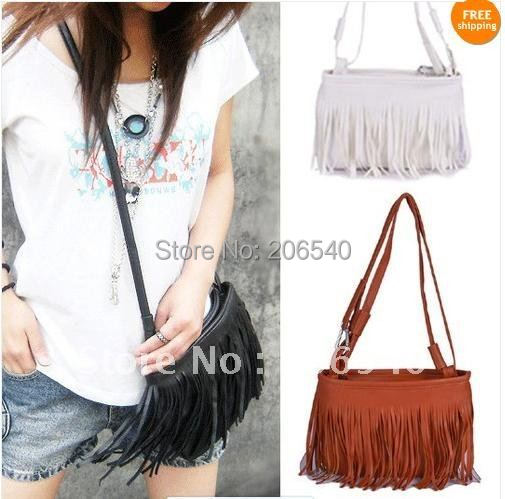 Fashion Fringe Tassel Shoulder Messenger Bag Hand Style Women lady Satchel