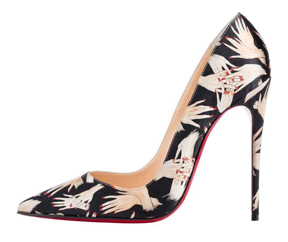 New popular women pumps stylish sexy hand patent pumps red bottom pointed toe thin heel shoes woman Plus size can be customized<br><br>Aliexpress