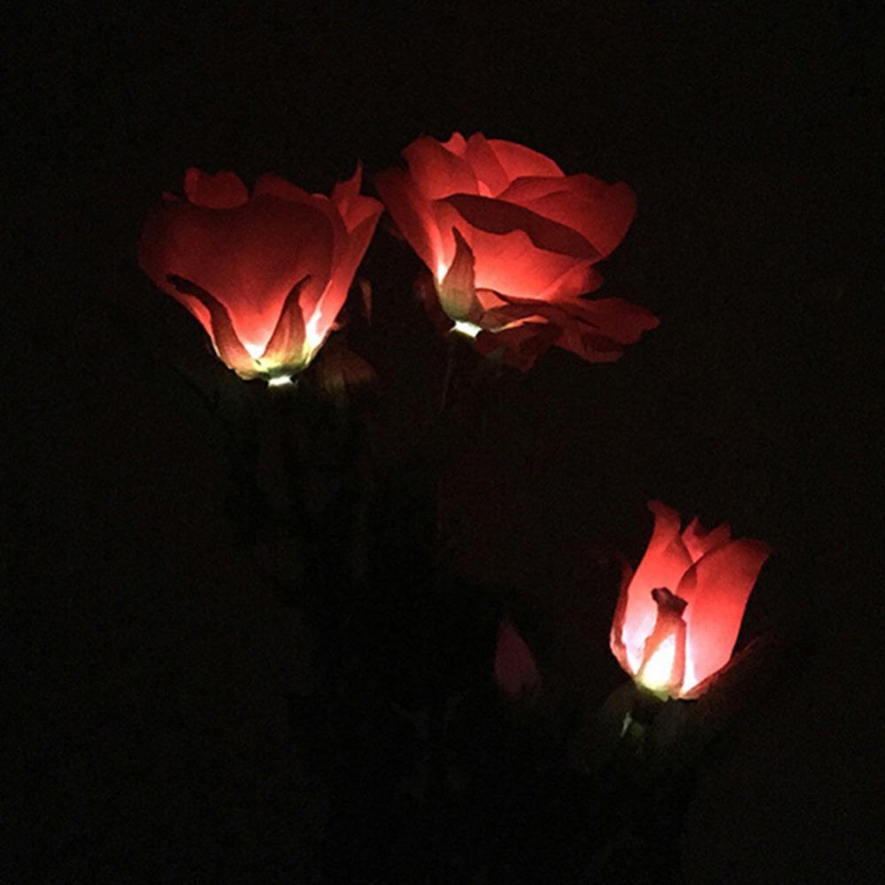 Lumiparty Rose Flower Solar LED Light Garden Yard Lawn NightLight Lamp Landscape Garden Home Decoration Lights