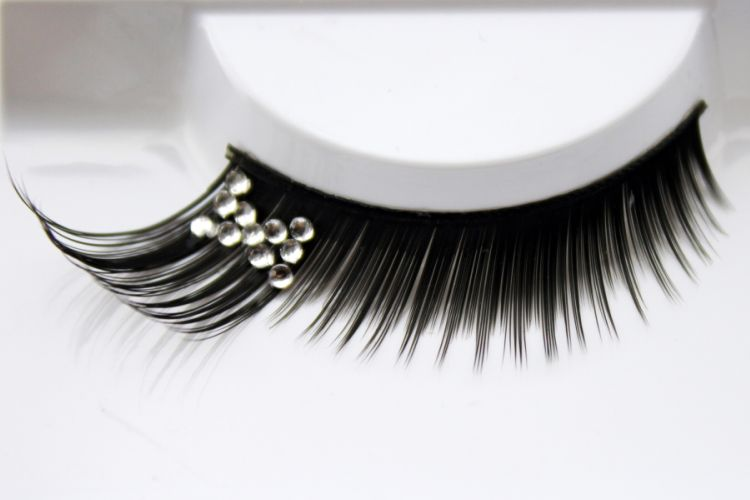 1 pairs Bridal artistic pictures artistic design inlay diamond butterfly exaggerated false eyelashes for women makeup XZ01(China (Mainland))