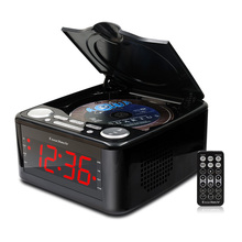 Clocked cd drive mp3 player, CD stereo speakers alarm clock usb prenatal Zaojiao / WMA music FM radio aux input headphone output(China (Mainland))