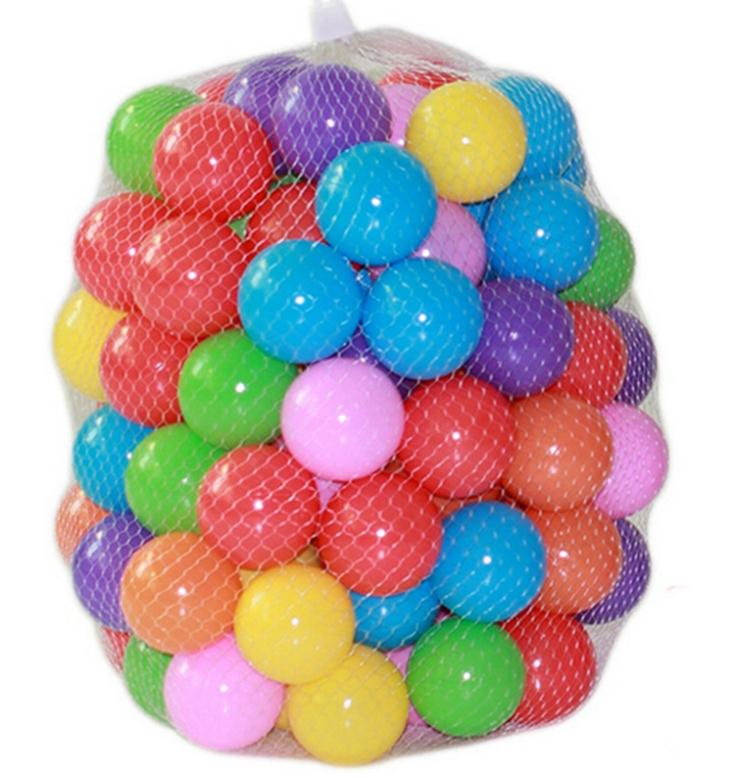 50pcs/lot Eco-Friendly Colorful Soft Plastic Water Pool Ocean Wave Ball Baby Funny Toys stress air ball outdoor fun sports(China (Mainland))