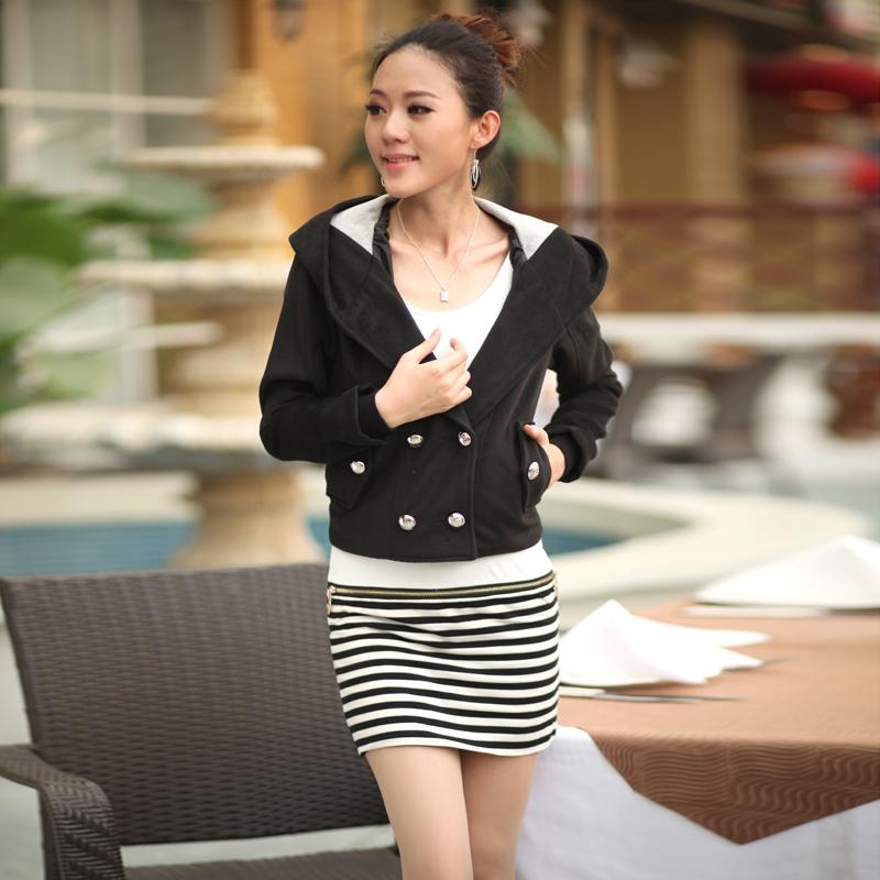 Autumn design short outerwear spring autumn women's woolen plus size clothing mm - KEY LI's store