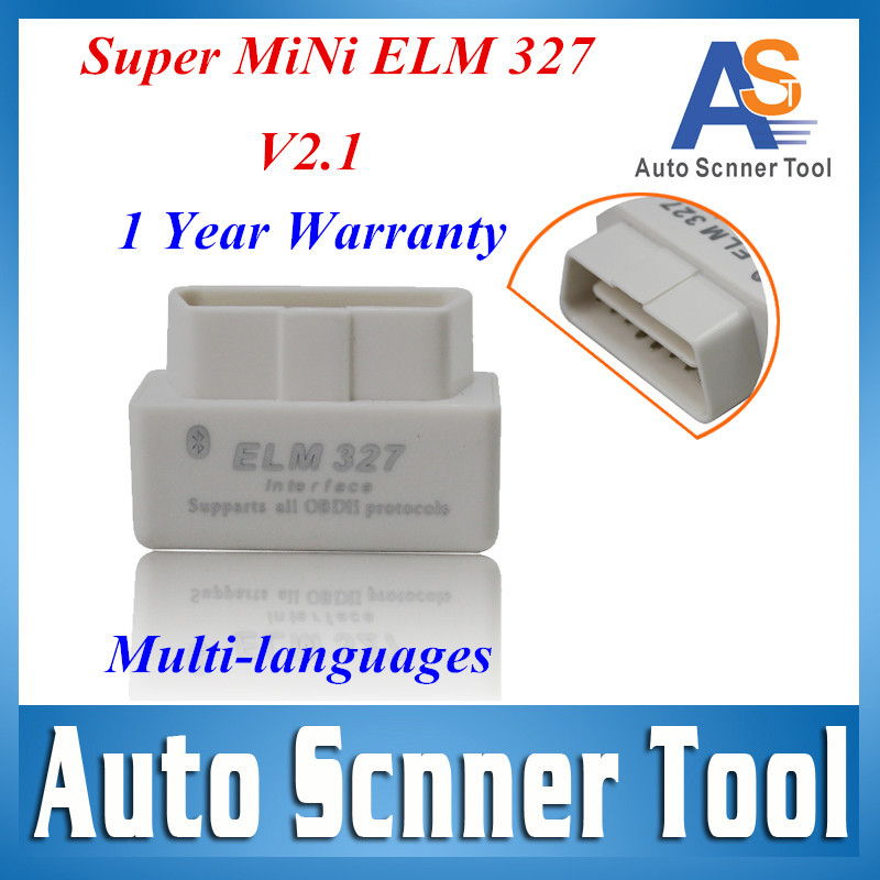 Cheapest White Super Mini Elm 327 Bluetooth OBD OBD2 Car Code Adapter Work On Android Torque /Computer(China (Mainland))