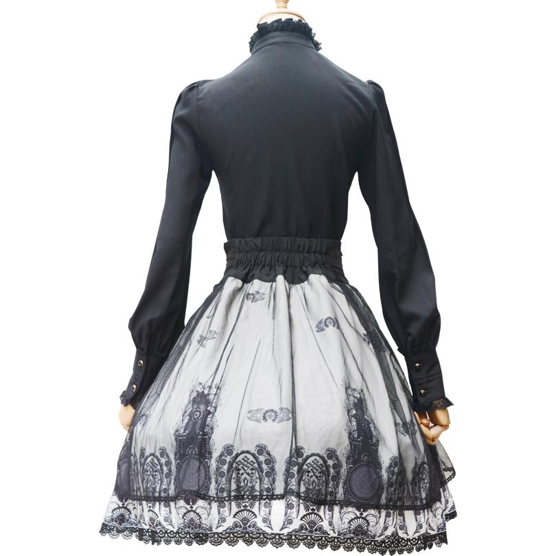 Printed Skirts for women girl Princess skirt bowknot Lolita Skirt 2016 Summer Fashion female clothes original design party skirt