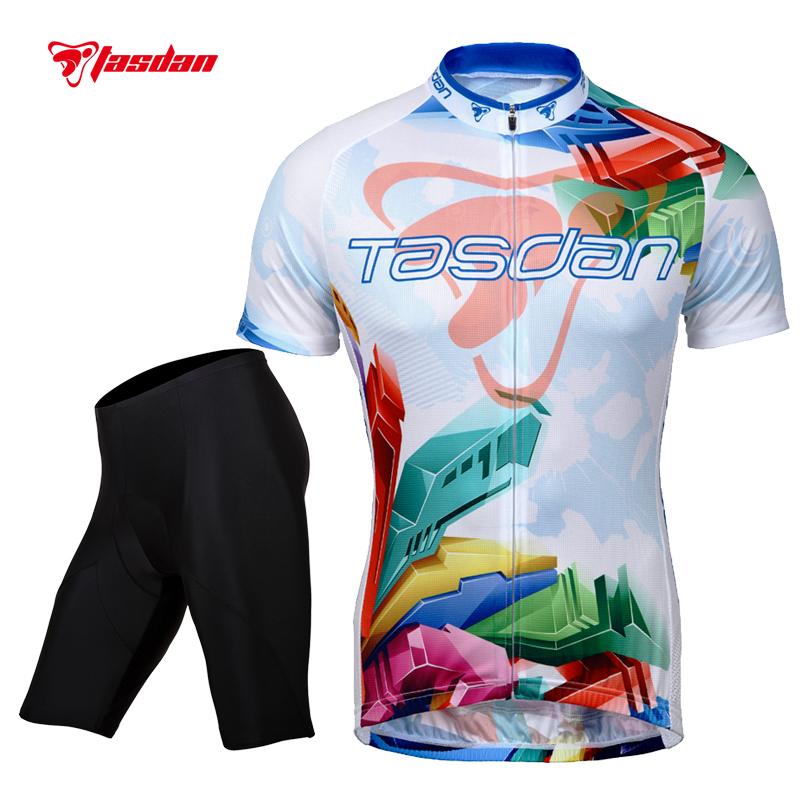 Tasdan Cycling Jerseys Sets Clothing Cycling Wear Men Short Sleeve Bicycle Jerseys Suit Custom Cycling Jerseys & Short Sets(China (Mainland))