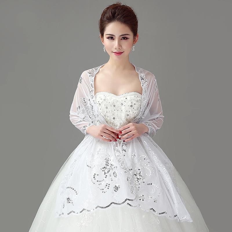 [해외]여성 볼레로 코트 파티 칵테일 결혼식 신부 오간자 랩 목도리..
