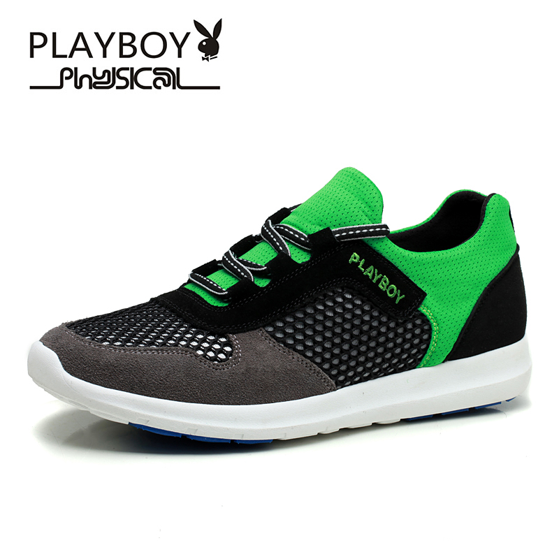 PLAYBOY Couple Superstar Air mesh Men Casual Shoes Summer Fashion Breathable Durable Outdoor Lace-Up sapatos casuais - Feng shang co., LTD store