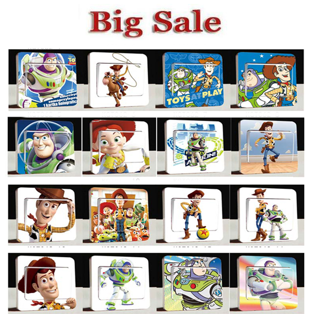 Toy Story Led Wall Light : 1PCS Switch Stickers Stickers Toy Story Buzz Light Year Wall Stickers For Kids Rooms Wall ...