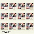YZWLE Hot Gold DIY 3D Nail Art Stickers Decorations Decals Foils Wraps Manicure Styling Tools 30