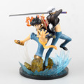 Anime One Piece Monkey D Luffy Trafalgar Law 5 Anniversary PVC Action Figure Collectible Model Toy