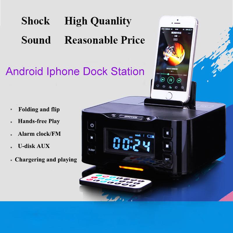 a9 lcd digital fm radio alarm clock bluetooth dock station for apple iphone 5. Black Bedroom Furniture Sets. Home Design Ideas