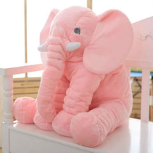 Pink 28*33cm Elephant Soft Baby Pillow Baby Doll Toys Baby Sleep Bed Car Seat Cushion Kids Portable Bedroom Bedding Hot Selling(China (Mainland))