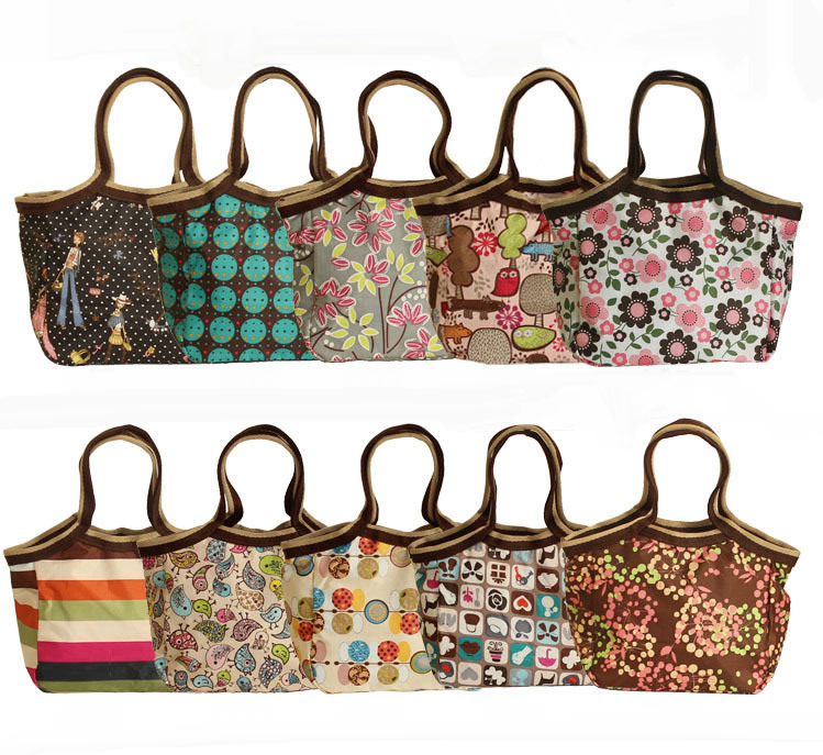 Hot sale fashion lunch box bags Free shipping 5 pcs/lot Wholesale womens lunch bag Waterproof handbag food box storage bag<br><br>Aliexpress