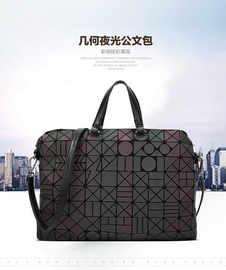 ec1251d17fcb Lasen bag 2017 New Brand Famous logo bag Women Geometry Totes Sequins  Mirror Saser Plain Folding ...