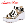 ANMAIRON New Fashion Sale Women Sandals High Heel Platform Shoes Thick Ladies Wedding Party Shoes Gladiator