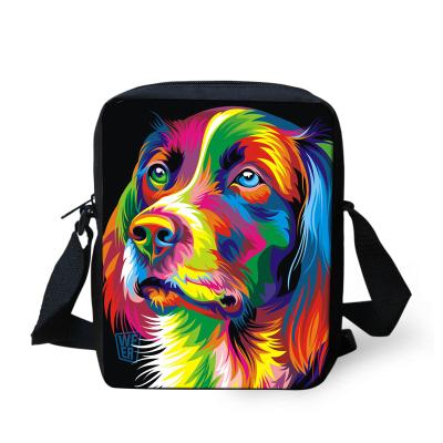 Casual women desigual handbag painting dog crossbody bags for girls children outdoor shoulder bag student kids messenger bag(China (Mainland))