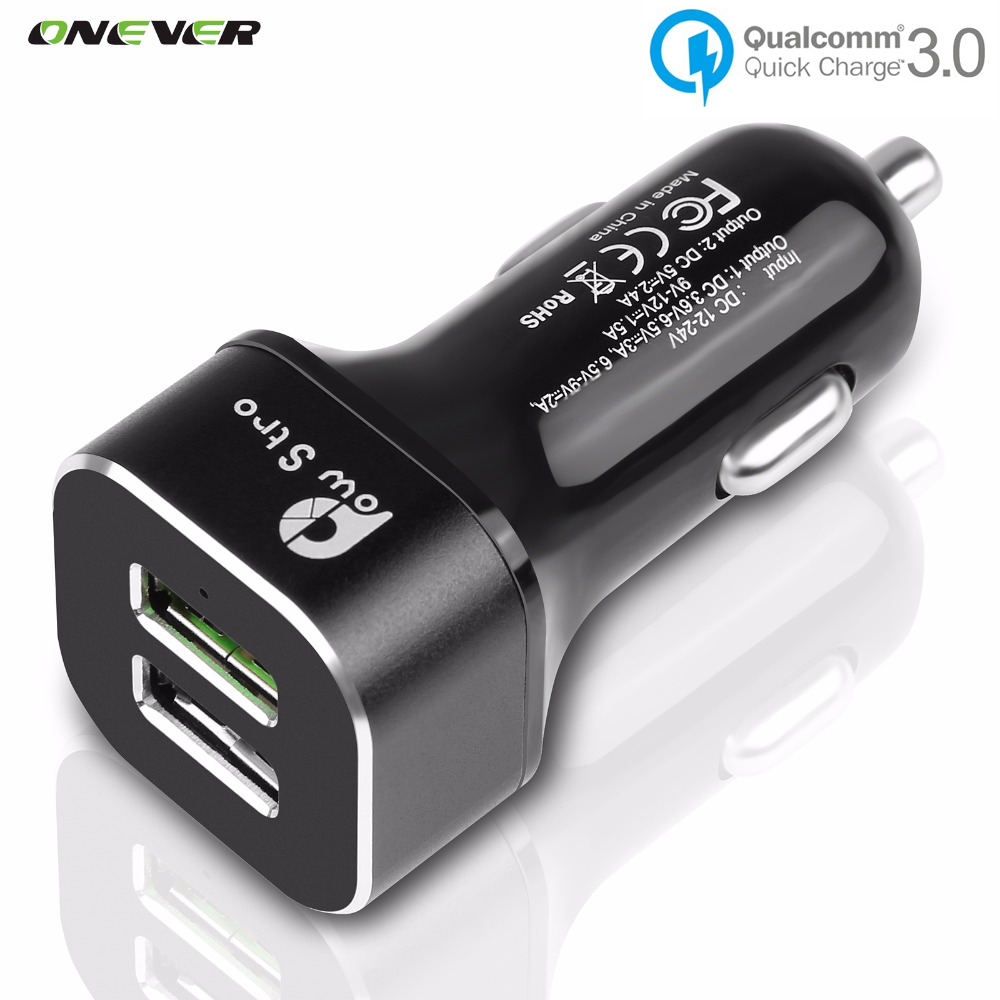 Qualcomm Quick Charge 3.0 Dual USB QC3.0 Car Charger Fast Charging for iPhone Samsung Galaxy S6 HTC M9 Nexus 6 LG G4 Xiaomi