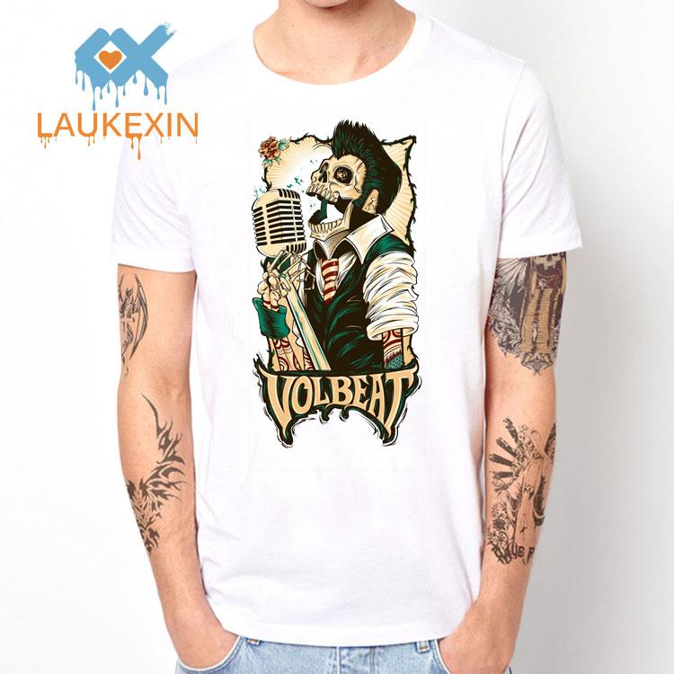 2016 New Summer Rock Band VOLBEAT Skull Print T Shirt 3D Design Skull Rock Music Camisetas Men's Plus Size Tee Shirt(China (Mainland))