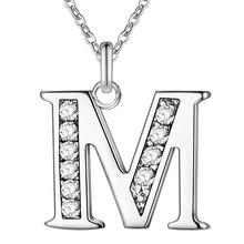 List A-S darmowa wysyłka srebrny platerowany naszyjnik, znaczek 925 moda biżuteria srebrna moda naszyjnik dla kobiet(China)