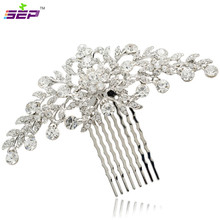 Clear Rhinestone Crystals Wedding Bride Bridal Floral Hair Comb Head Pieces Hair Pins Jewelry Accessories COFA2944(China (Mainland))