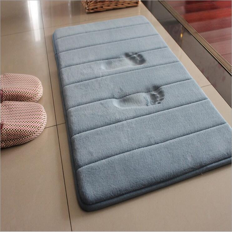 50x80cm Memory Foam Soft Carpet Striped Area Rug Home