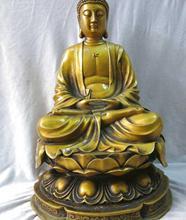 """17"""" China pure brass fine workmanship carved beautiful Sakyamuni buddha Statue(China (Mainland))"""