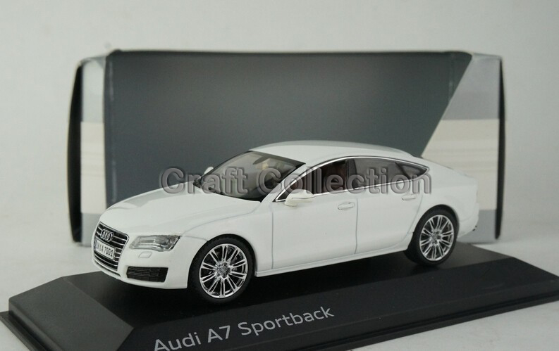 ! White 1:43 Car Model Audi A7 Sportback Sedan Diecast Classic Toys Replica Luxury Collection - Craft store