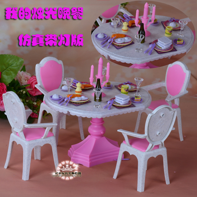 Doll furnishings for barbie doll 1/6  candlelight eating desk eating room furnishings equipment play set ladies toys