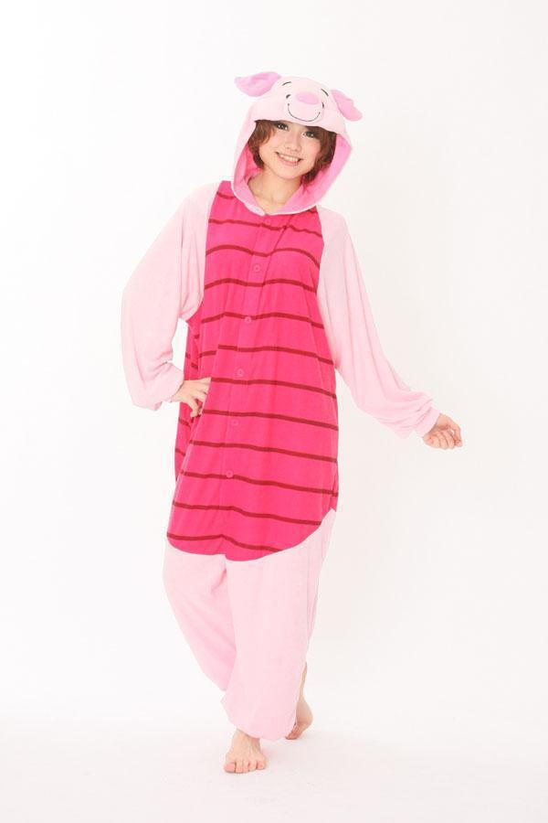 Adult Onesie Unisex Fashion Pajamas Cosplay Japan Costumes Cute Animal Cartoon Piglet Onesies Pyjamas Sleepwears,Pink Pig - RUBY TOP 2 store