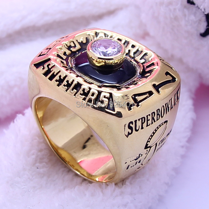 1974 Pittsburgh Steelers Ring Copper Plating Gold Replica Championship National Football League Super Bowl Rings - born4beauty store