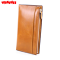 YMWEI The new woman s long wallet real leather 100 cowhide wallet restoring ancient ways is