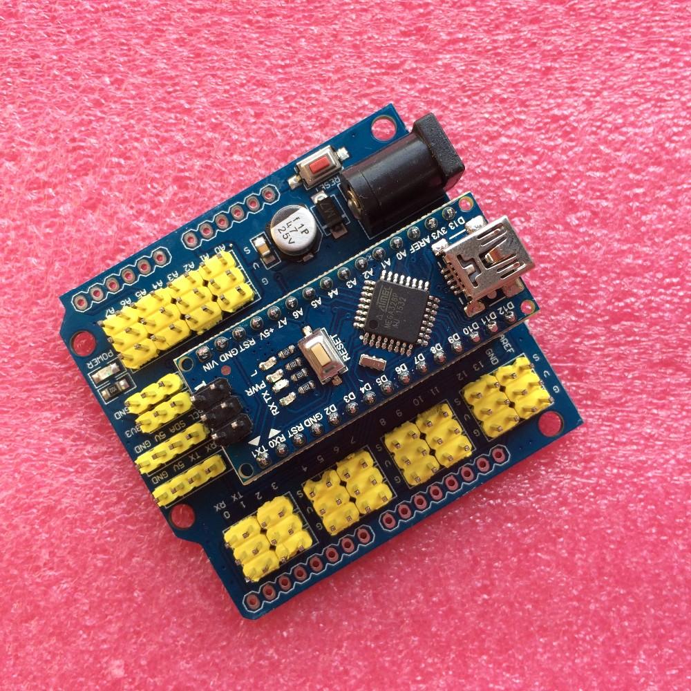 10pcs/lot UNO Shield Nano Shield for NANO 3.0 and UNO R3 shield duemilanove Expansion board for arduino