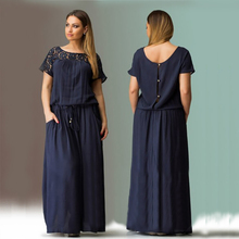 Short sleeved maxi dress plus size