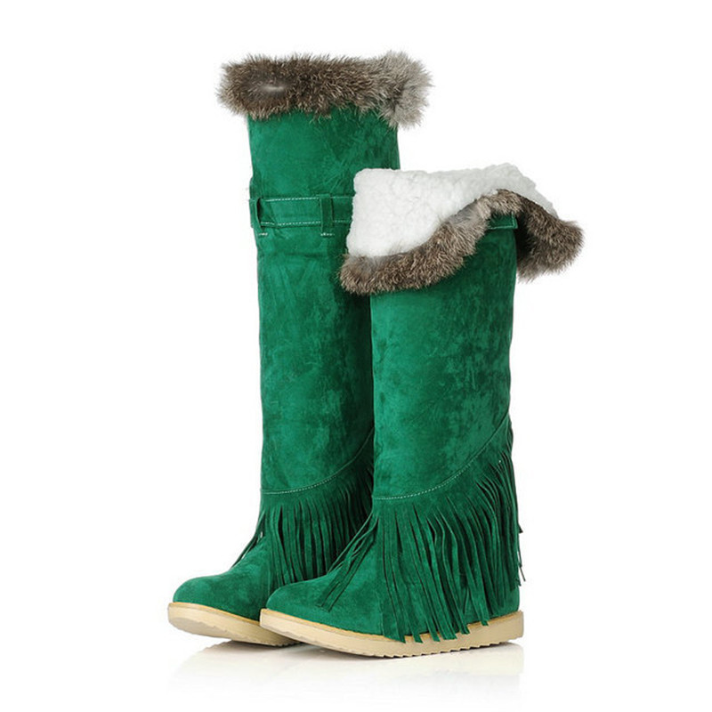 Womens Knee High Snow Boots Shoes Warm Womens Boots Shoes Winter 2015 New Arrival Womens Shoes