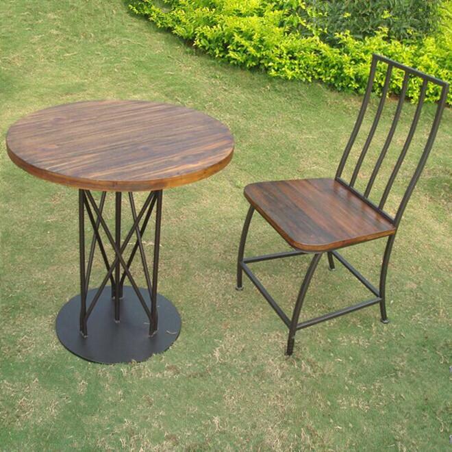 Retro americana mesas de caf y sillas para exterior mesas for Mesas y sillas para exterior