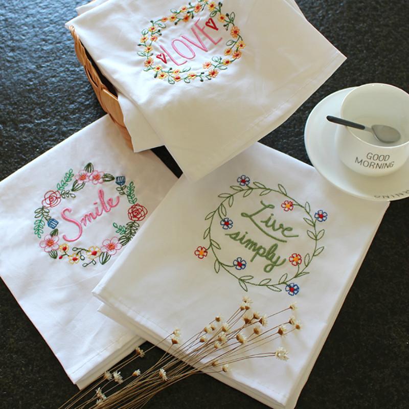 Compra servilletas de boda bordado online al por mayor de - Como decorar una servilleta de papel ...