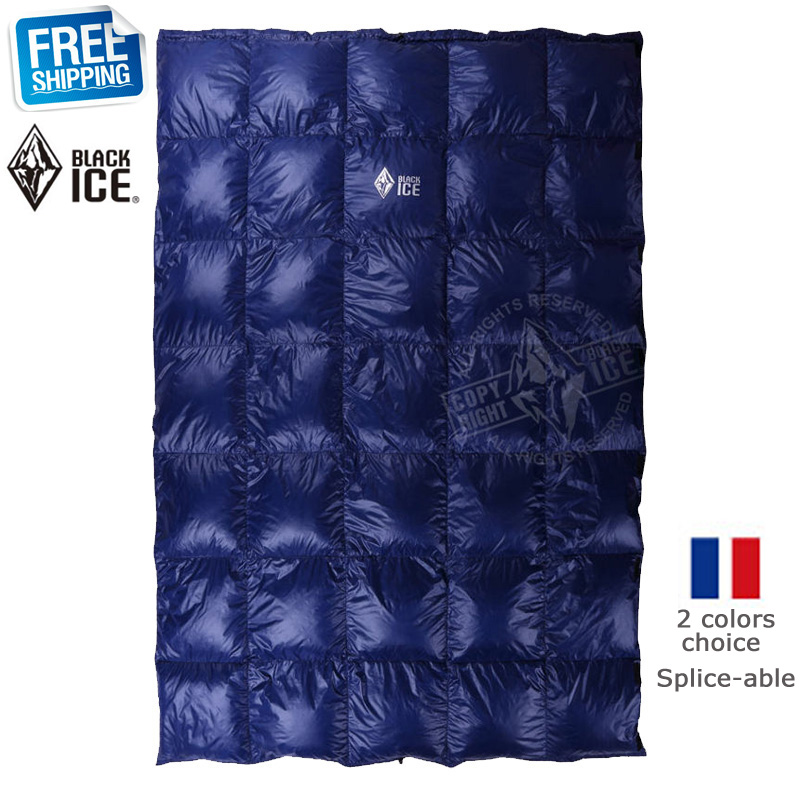 Black Ice Splicing Blue/Red Ultra Light Goose Spring/Summer/Autumn Quilt/Sleeping Bag - Forest Yan's Outlet Store store