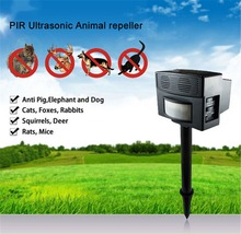 2105 New Super power Outdoor Ultrasonic Safe Harmless PIR Electronic Ultrasonic Animal Pest dog Repeller free shipping CH-326(China (Mainland))