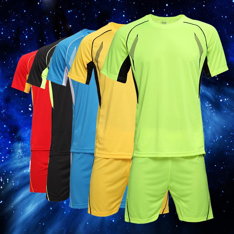 Plus Size 4XL Soccer Jerseys Football Training Set 15-16 Soccer Uniform Plain Football Suits Customize Logo Name/Number For Kids(China (Mainland))