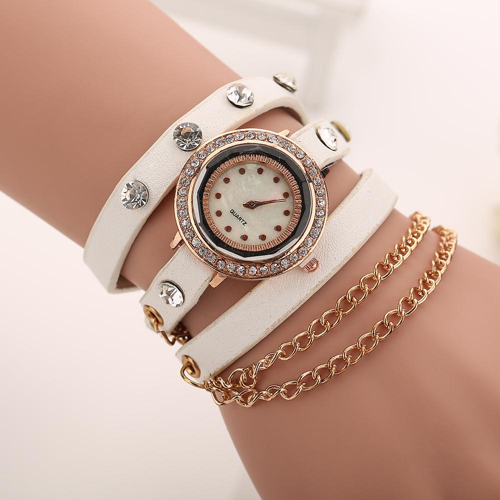 Buy New Summer Style Women Watch Leather Luxury Bracelet Wristwatch Dress
